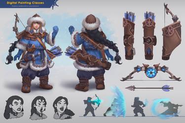 winter archer by lepyoshka