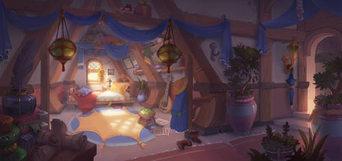 fantasy room by lepyoshka