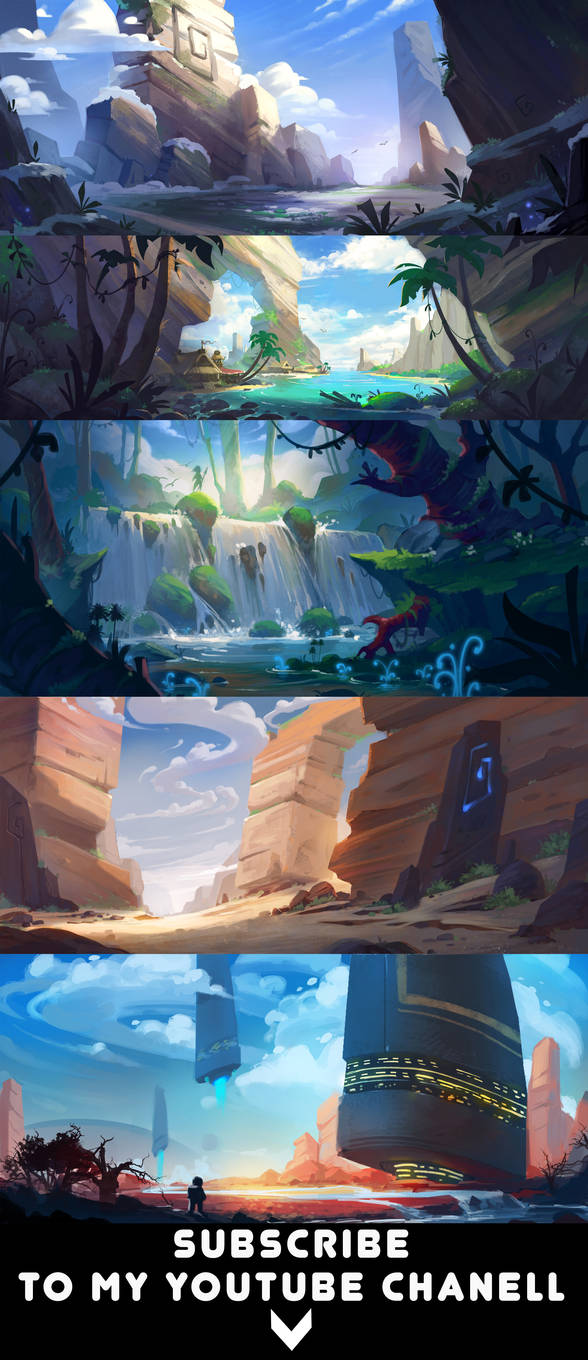 Landscape speedpaints
