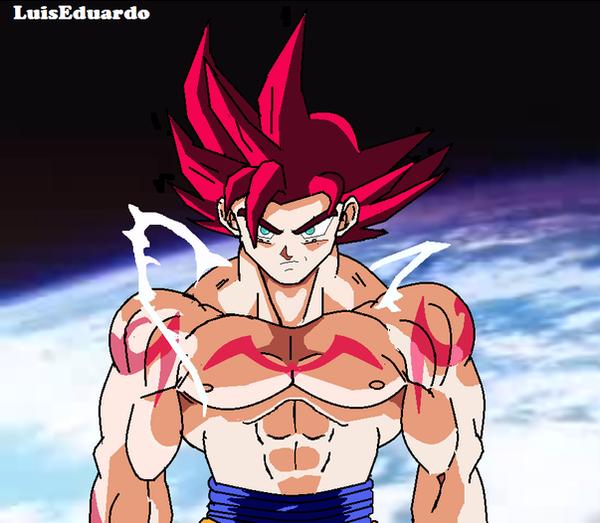 Goku super saiyan god paint draw by educomics on deviantart - Super saiyan 6 goku pictures ...