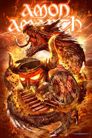 Amon Amarth Tour Tshirt Design by Lordigan
