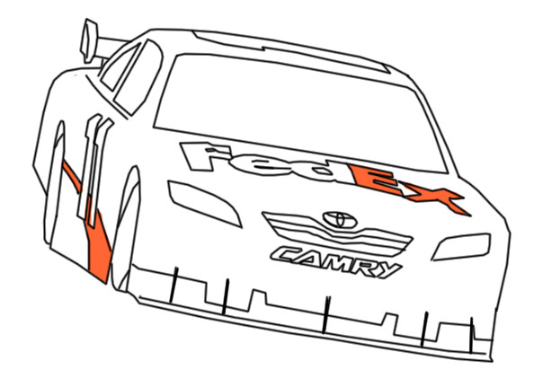How to draw a nascar car