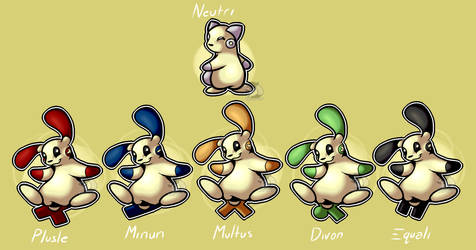 [Fakemon] Neutri and co. by byronxsque