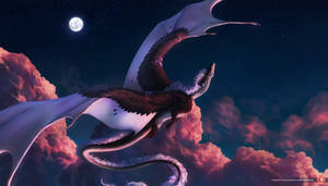 nacre under moon