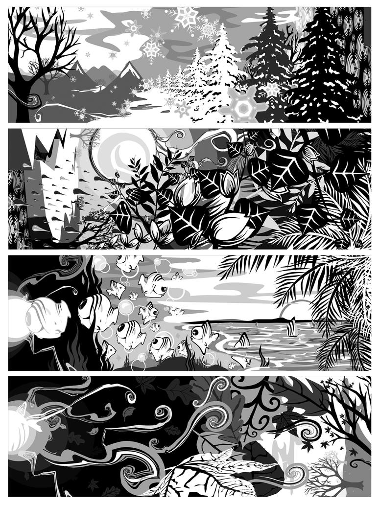 Four Seasons by LenaLena
