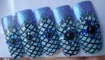 Blue Leotard Nail Art Set