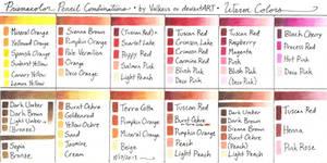 Prismacolor Pencil Combinations II - Warm Colors