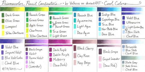 Prismacolor Pencil Combinations III - Cool Colors