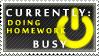 Status Stamp: Busy - Homework by Reixxie
