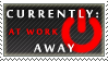 Status Stamp: Away - At Work by Reixxie