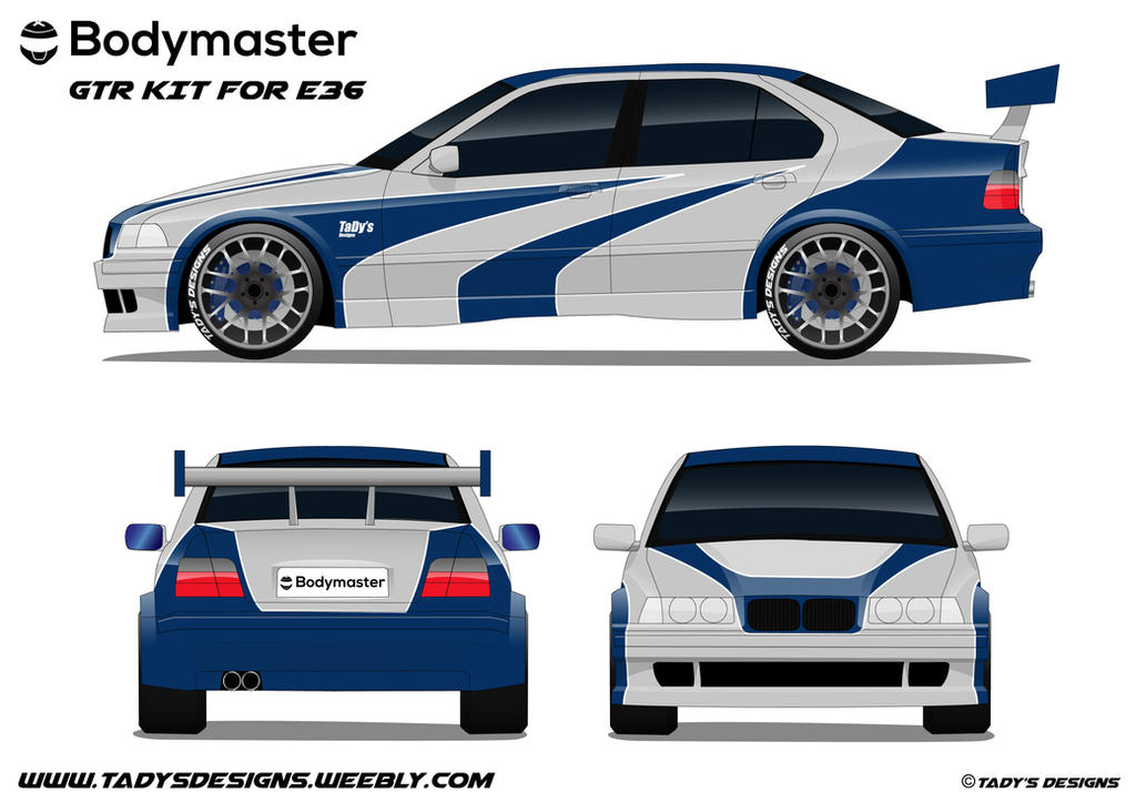 BMW E36 serie 3 NFS Most Wanted Livery by TaDy by tadydrift