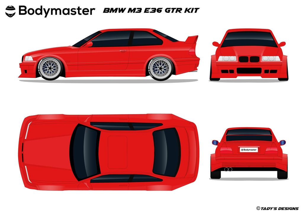 BMW M3 E36 GTR Kit by TaDy by tadydrift