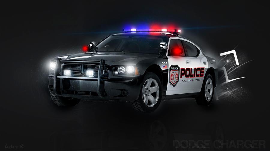 police dodge charger by aztrogfx on deviantart. Black Bedroom Furniture Sets. Home Design Ideas