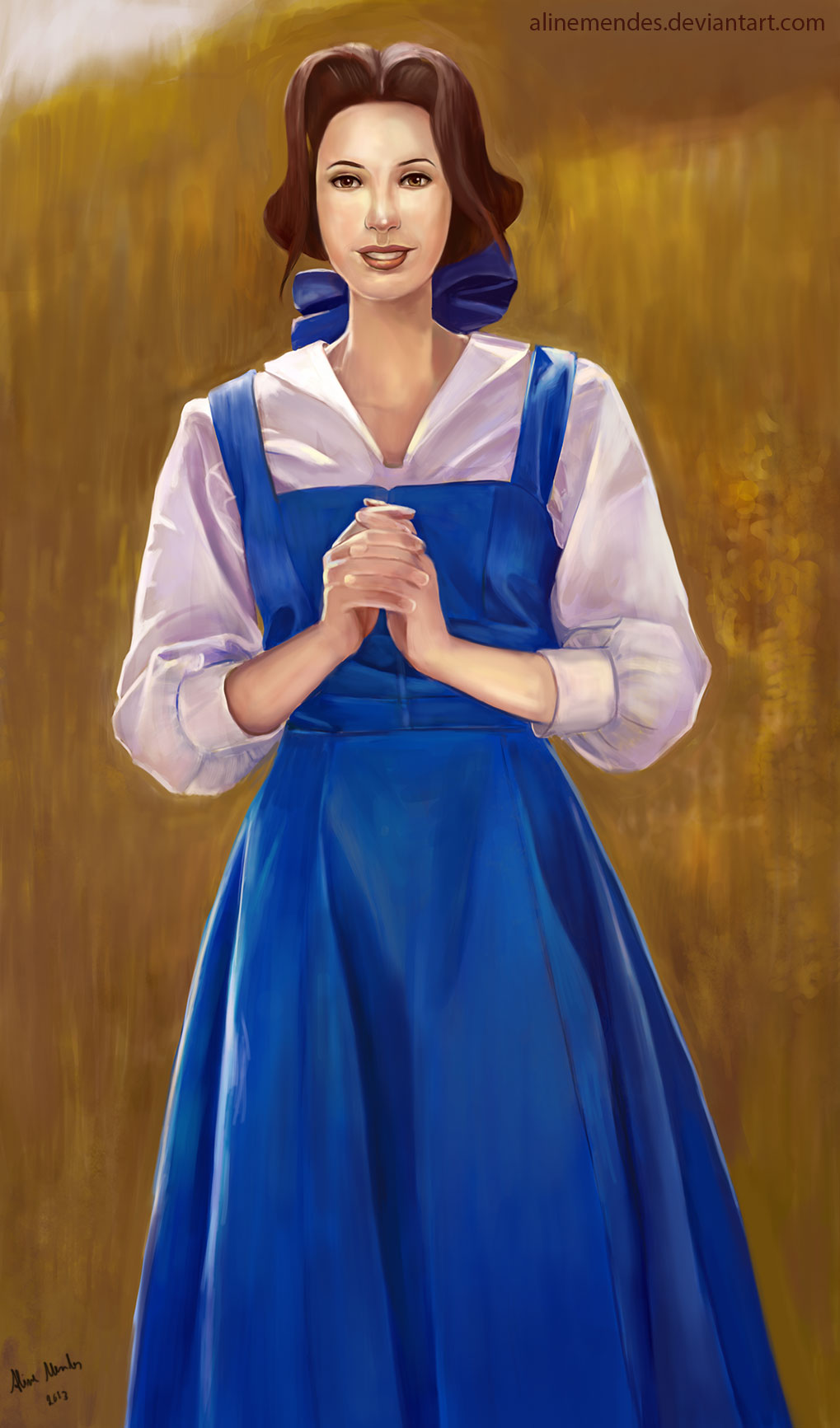 Belle with Blue Dress ...
