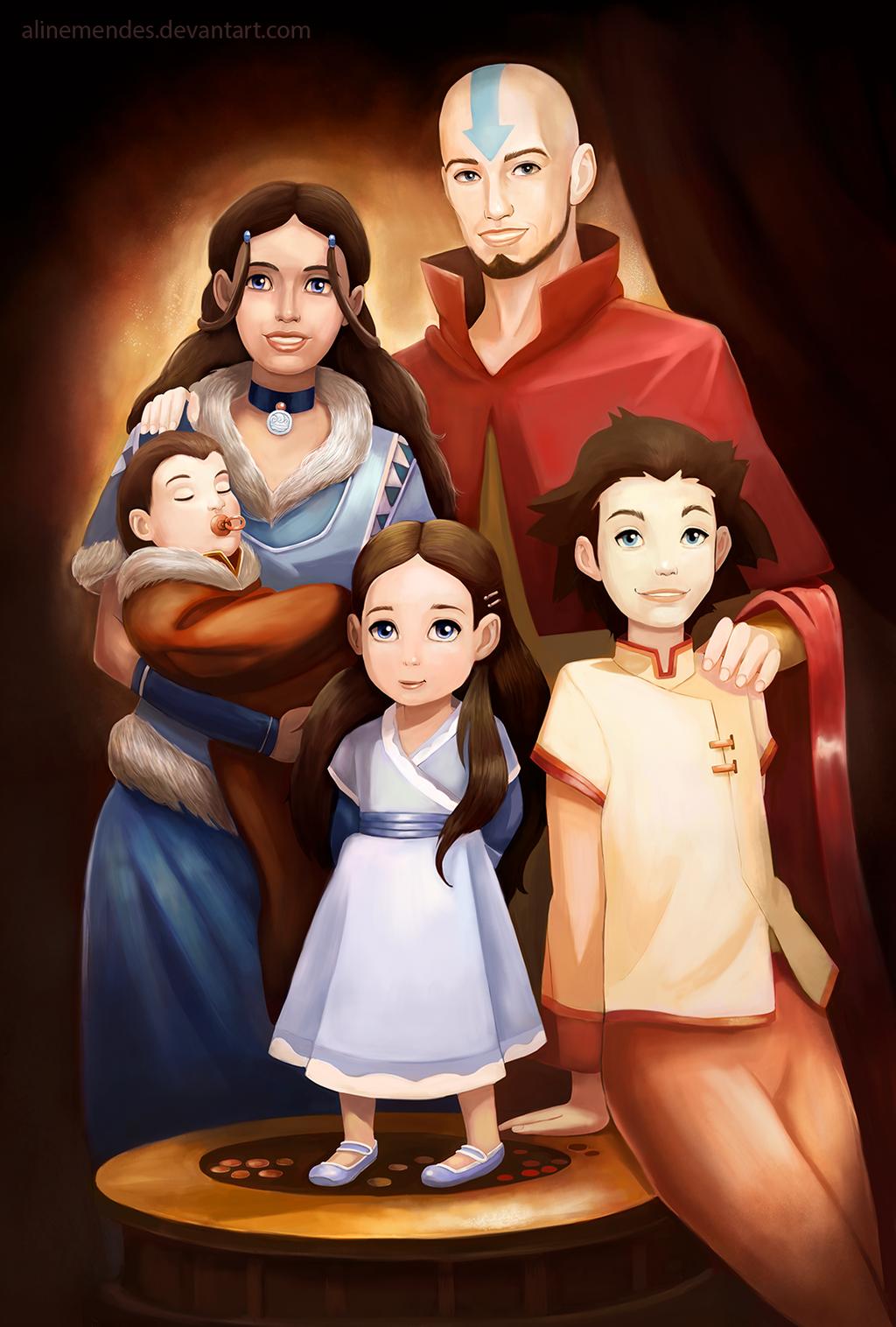 Аанг и катара и их дети фото