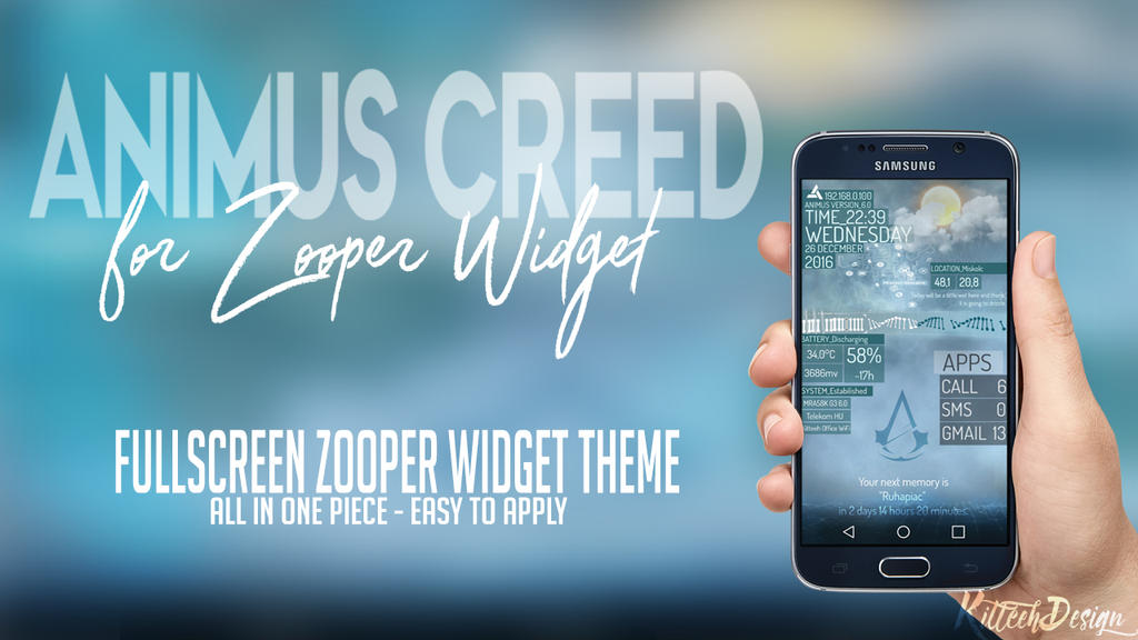 Animus Creed Zooper Widget theme by KitteehDesign by kitteeh on