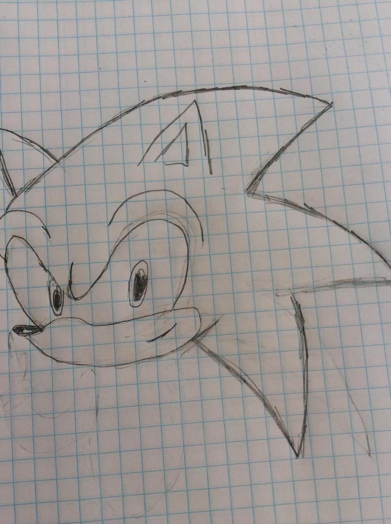 Sonic the hedgehog head - practice by KNUXOUGE123SONAMY123