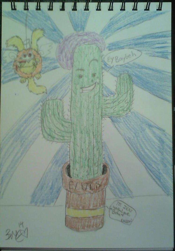 Elvis, the magnificent Cactus by Befu-Eiesutone