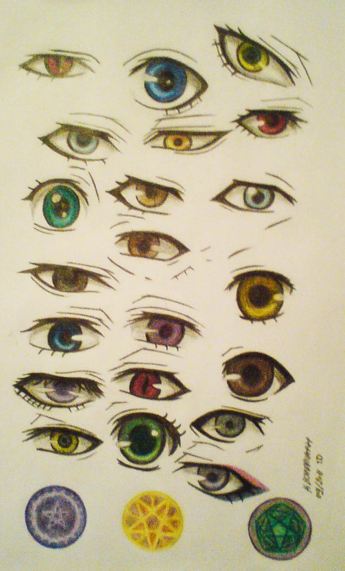 How to draw with colored pencils - Ksj Eyes Colored Pencil Drawing And Coloring By Mistressofdecay