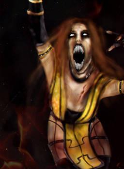 Araceli Kahn demon form - art by Keishmir