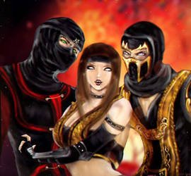 Ermac Araceli and Scorpion by Keishmir