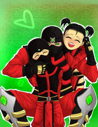Ermac with his children with Araceli by Darki-Di