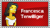 Francesca Terwilliger stamp by sAkora1