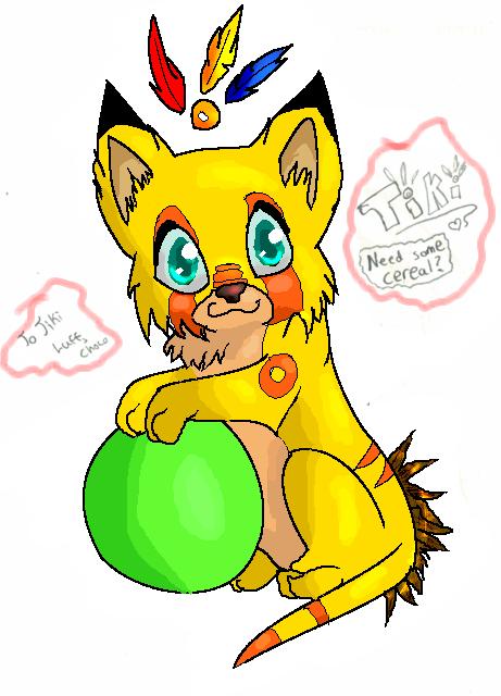 Chibi Tiki by Chocolate-Pikachu