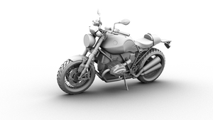 3D MODEL BMW R NINE T in AO render