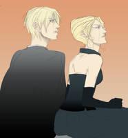 Draco et Narcissa Malfoy by raikov9