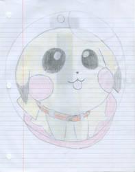 Pikachu in a Pokeball