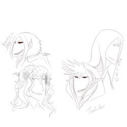 -Oc's : Four favorite designs/Characters by NullAndArt