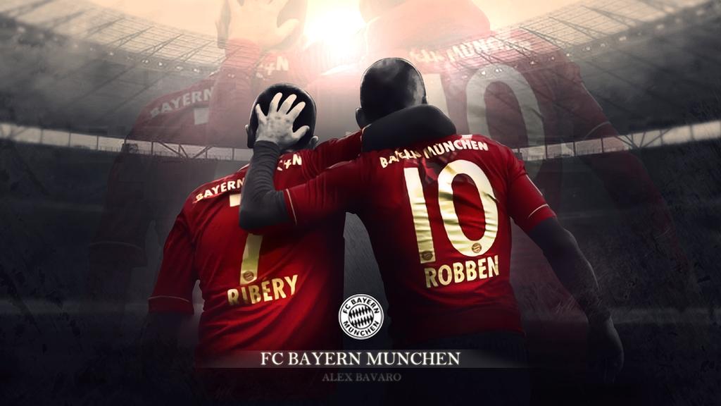 Franck Ribery E Arjen Robben - WALLPAPER by Ds-Bayern