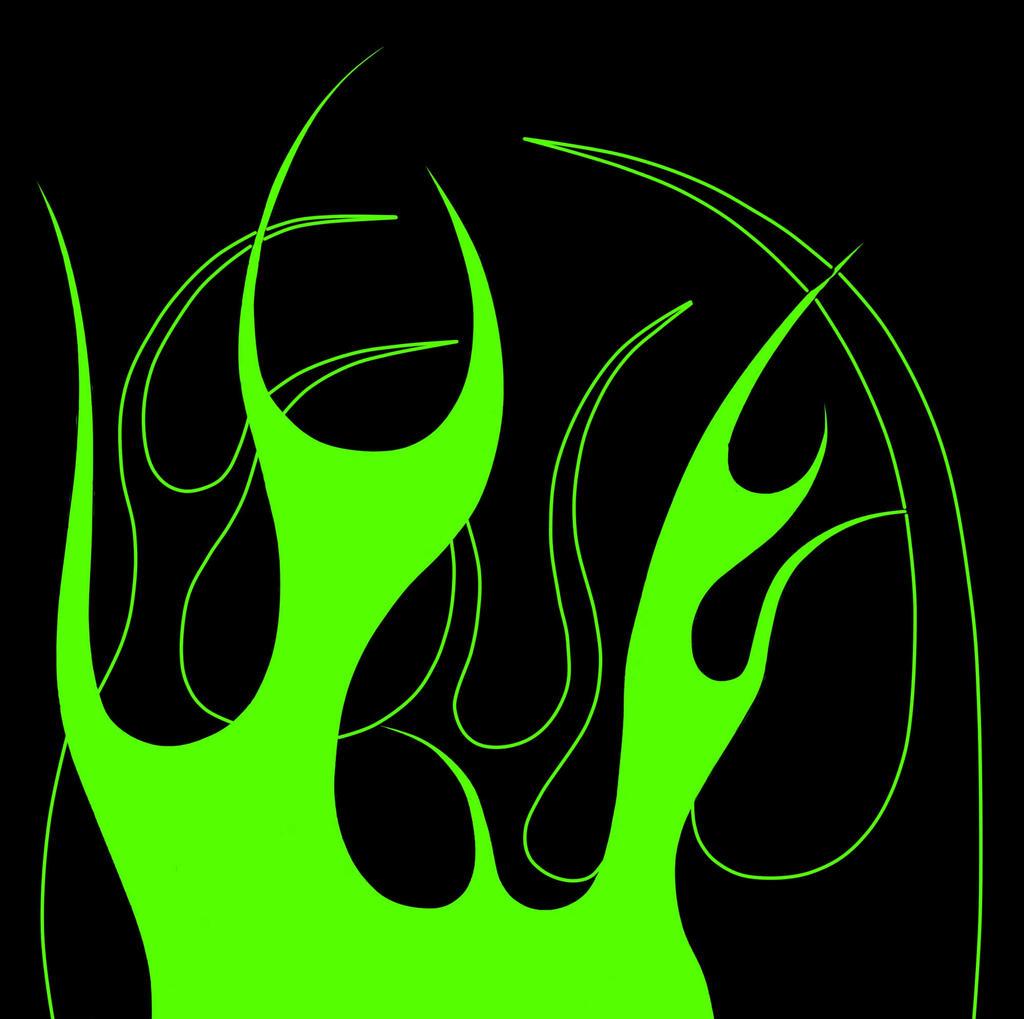 Pin Green Flames Skull Wallpaper Hd Lilzeu Tattoo De On