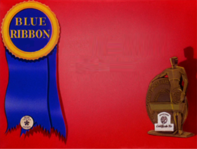 Merrie Melodies Blue Ribbon Template by DrethPhantomhive