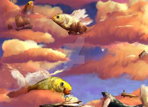 2D Design - Surrealism - Sea Sky