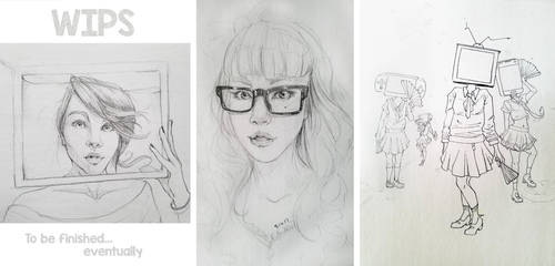 WIPS - Self Portraits and TV Heads