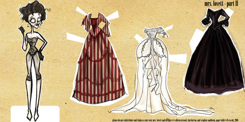 Mrs. Lovett Paper Dolls II by esscoh