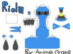 Riolu Papercraft Template
