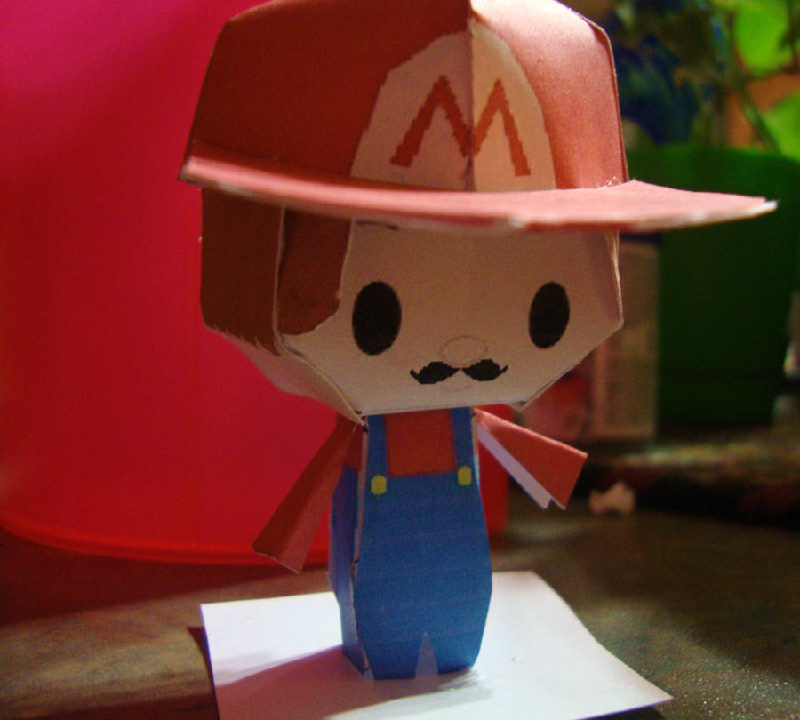 Mario Chibi Papercraft by AnimeGang