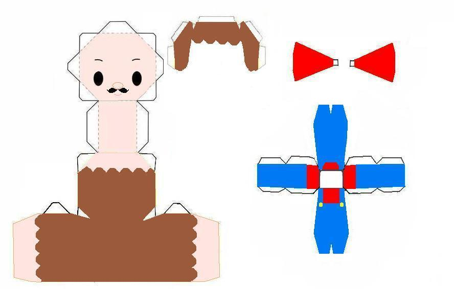 Mario Papercraft Template by AnimeGang