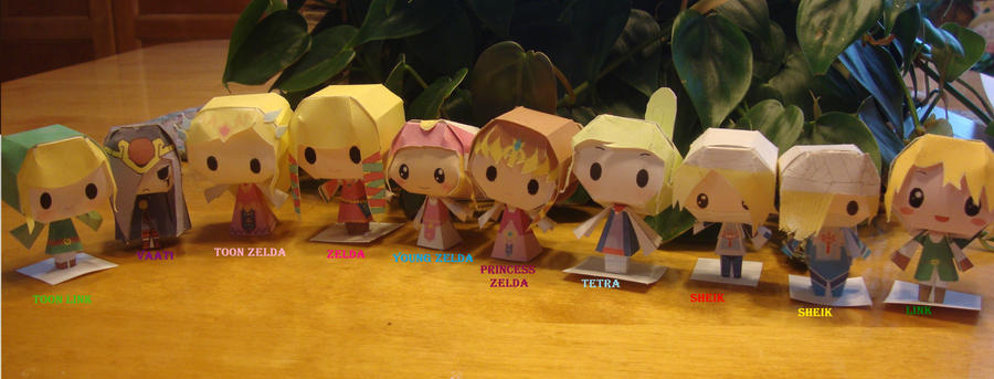 Chibi Zelda Papercrafts by AnimeGang