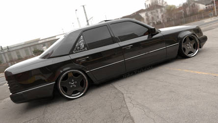 Mercedes W124 Black on Black by rulerz96