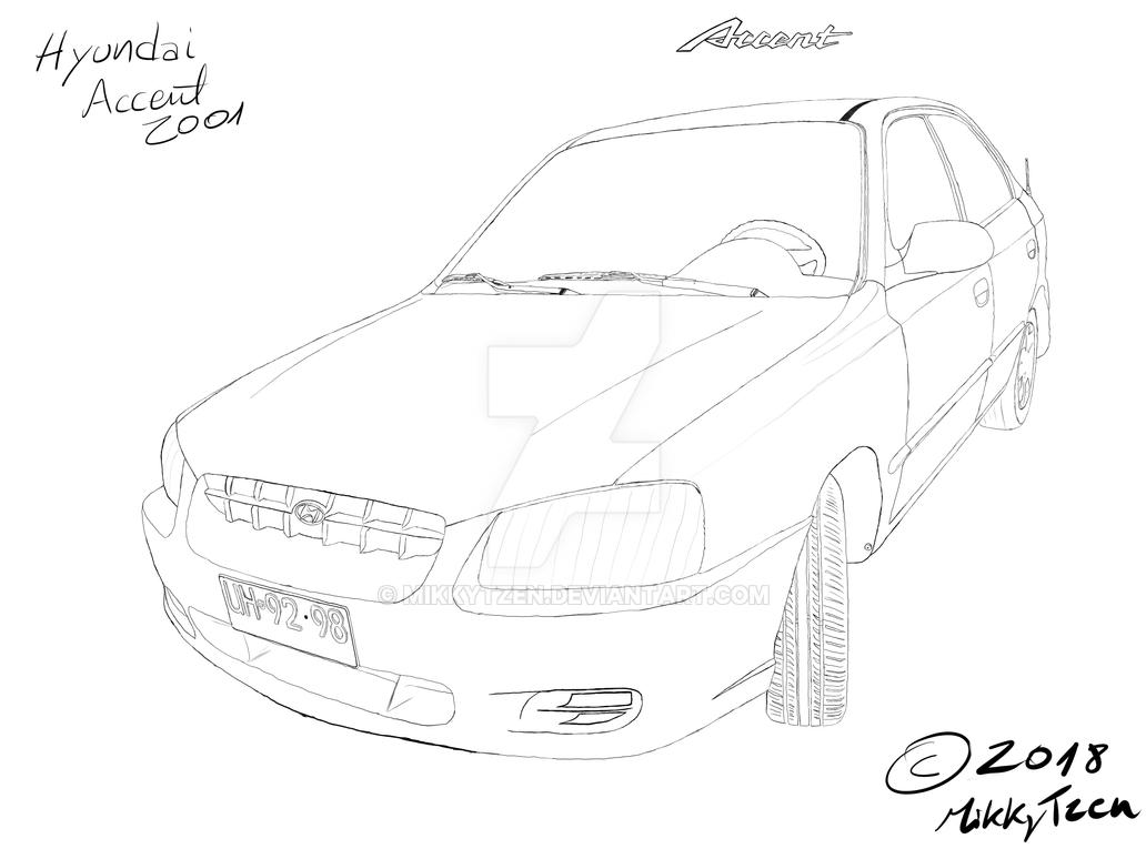 2018 Hyundai Accent Preview >> Hyundai Accent practice sketch by mikkytzen on DeviantArt