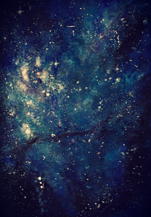 Galaxy painting by ahsr on DeviantArt