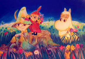 Snufkin, Little My and Snork Maiden by ahsr