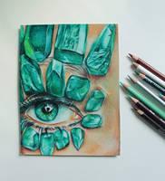 Emerald eye by ahsr
