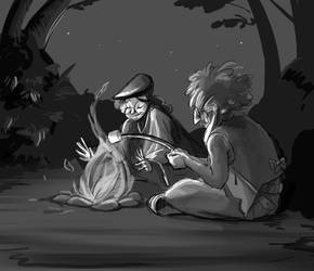 Campfire hippies by chanimated