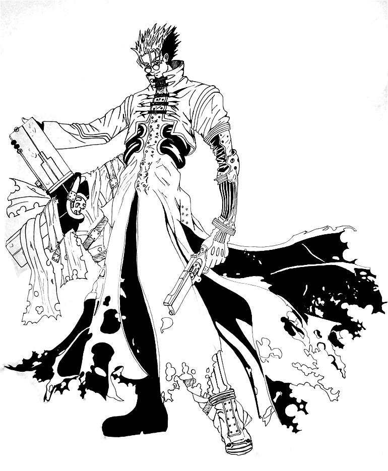 trigun coloring pages | $$60,000,000,000 man lineart by Ex-Shadow on DeviantArt