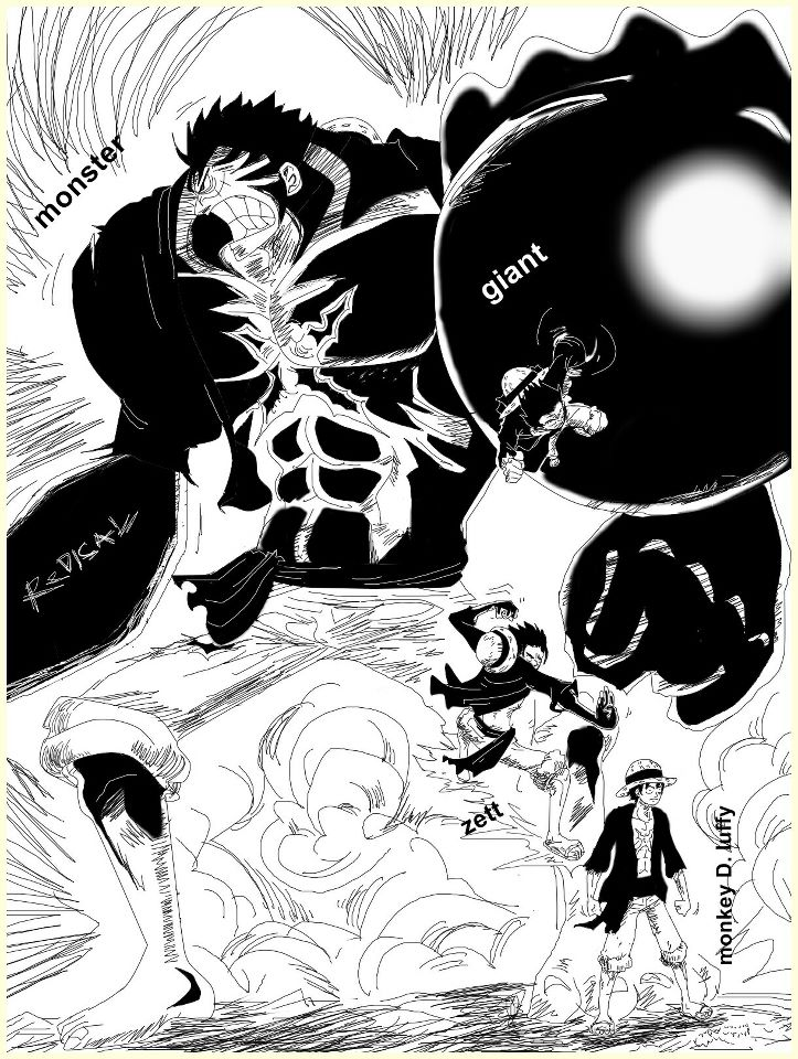 Itu cuma prediksi saja loh jangan dianggap serius  diambil dari blog    Luffy Vs Kaido